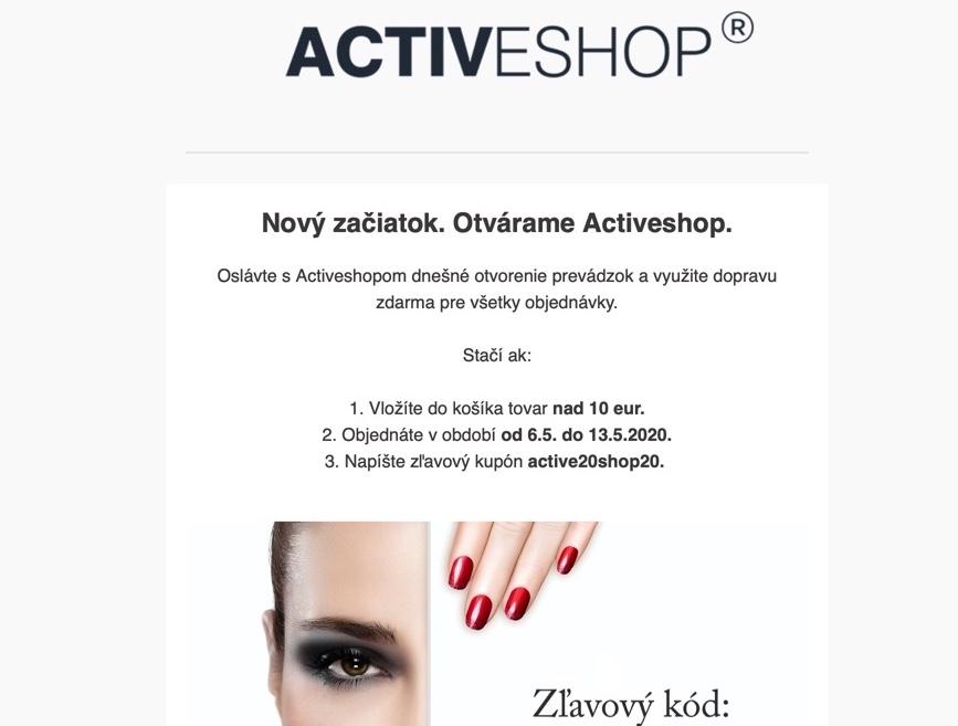 Targetovo-activeshop-pripadova-studia-email-kampan